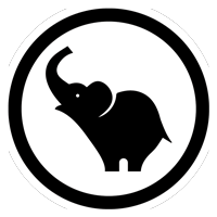 Black Elephant Digital Round Logo